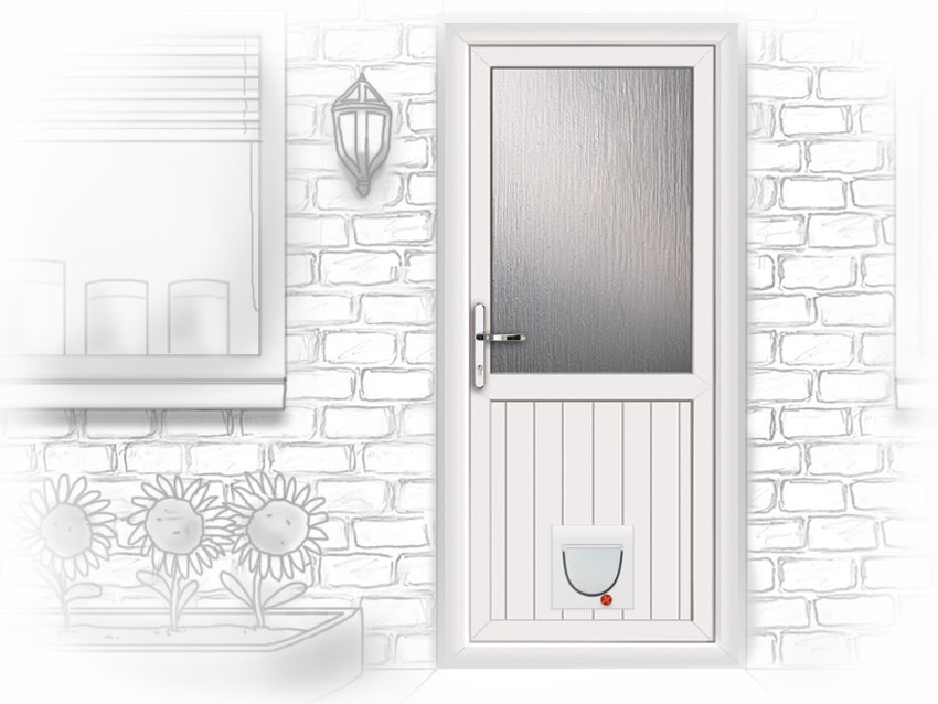 Composite and upvc door supply and installation in edinburgh for White back door