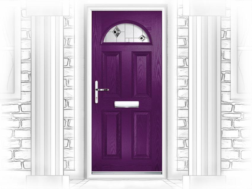 Black pvc front door pvc doors newcastle upon tyne for Upvc front doors for sale